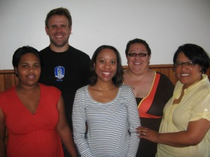 local youth leaders, me, Estelle (far right)