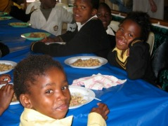 South Africa, Children Eating