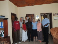 Training Team with Bishop of Musoma (Canon Jacob, far right)