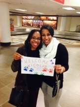 "Lil Sis and Joey's ""welcome home"" sign"