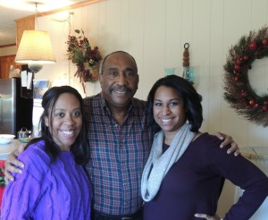 Dad and His Girls on Christmas Day