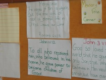 Another group's Memory Verse Corner